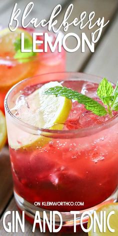 Blackberry Lemon Gin & Tonic is one of our favorite mixed drinks. It's one of those perfect cocktails for a hot summer day. Blackberries, lemon & gin is a delicious combination! Serve it at all your parties & backyard BBQ's. Vodka Mixed Drinks, Fun Drinks Alcohol, Fun Cocktails, Cocktail Drinks, Cocktail Recipes, Party Food And Drinks, Holiday Drinks, Summer Drinks, Holiday Recipes