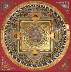Belief, Nature, Keeping  Manage. Tibet. Tibetan mandala
