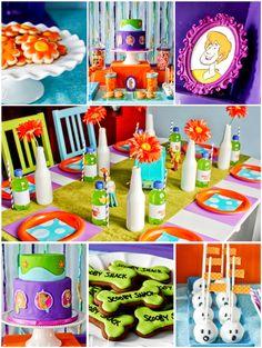 A Stunning Scooby-Doo Inspired Birthday! via Bird's Party #ScoobyDoo