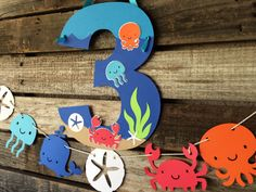 Under the Sea Party Party Paper Sign- Under the Sea, Beach Party, Birthday Party, Baby Shower, Photo Prop