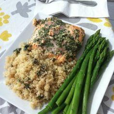 Baked Lemon and Parsley Salmon over Quinoa #glutenfree #food #recipes