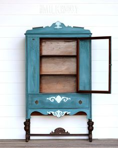 For March the color is Dragonfly!! When we saw this beautiful china cabinet we knew it was the perfect piece for this color! The flourishes are accented with our Soft White color and all the wood was revived with our Hemp Oil. Those little details really brought this piece to life and gave it the pop we were looking for!