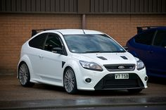 Ford focus RS white.  One of my dream cars.