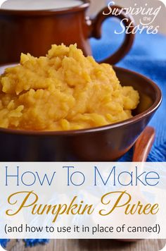 How to make pumpkin puree and use it instead of canned pumpkin!  It tastes so much better this way!