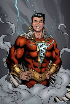 Shazam - Color Version by robertmarzullo on DeviantArt Comic Books Art, Comic Art, Captain Marvel Shazam, Marvel Images, Dc Comics Art, Dc Heroes, Iron Man, Wonder Woman, Deviantart