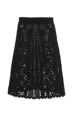 Lemonade Crochet Skirt by SPENCER VLADIMIR for Preorder on Moda Operandi