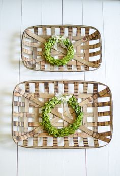 Wall Baskets Decor creative wall display / get the hang of it! | tobacco basket, wall