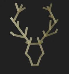 DIY washi antlers - craft project for boy's bedroom Popsicle Stick Crafts, Popsicle Sticks, Craft Stick Crafts, Craft Sticks, Popsicle Stick Snowflake, Diy Photo, Holiday Fun, Christmas Holidays, Diy Cadeau Noel