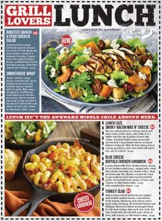 Montanas Cookhouse Lunch Menu