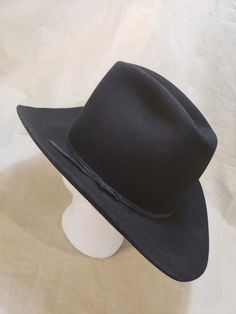 c0216f9c3d0b4 Vintage American Hat Company Men s Maxi-Felt Western Fur Felt Hat Black  Size 7 3 8 59cm