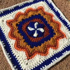 Make this pretty crochet square with Vanna's Choice! Get the pattern (paid) by Julie Yeager on Ravelry.