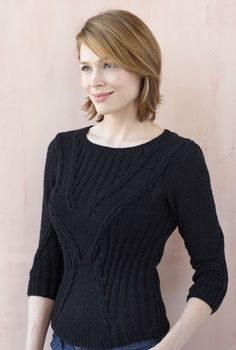Midnight Glamour Pullover - I love this! Accentuates the chest and waist!  Gonna have to make this one.