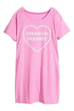 9638e14c73fc Chemise de nuit en jersey Vetement De Nuit Femme, Vêtements De Nuit, Chemise  De