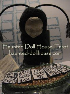 The Bumblebee Reads Your Fortune Haunted Dollhouse, Haunted Dolls, Dollhouse Miniatures, Divine Tarot, Halloween Doll, Fortune Teller, Tarot Decks, Doll Houses, Witches