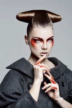 THE FASHION PROPELLANT: NEW GEISHA, 7 avantgarde haistyle and makeup trend photo shoots