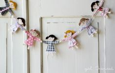 Girl. Inspired. {sewing, crafts, party inspiration}: Little Doll Garland