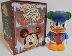 Mickey's Christmas Carol Donald Duck as Fred Disney Vinylmation 3'' Figure Cute