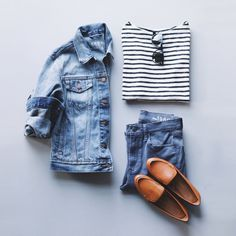 Move over, winter chills. Get ready for stripes, loafers and lots of denim.