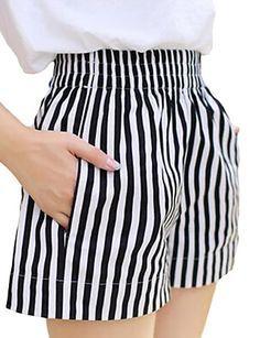 plus size shorts women summer style 2016 bermuda feminina Elastic waist wide leg ladies shorts women pantalon femme Fashion Pants, Girl Fashion, Fashion Design, Summer Outfits, Cute Outfits, Schneider, Chor, Look Chic, Casual Shorts