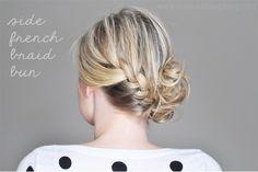 The Small Things Blog: Side French Braid Bun
