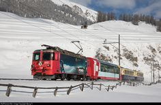 RailPictures.Net Photo: 615 RhB - Rhätische Bahn Ge 4/4 II at Celerina, Switzerland by Georg Trüb