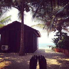 Goa, India beach hut