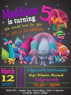 Trolls Birthday Party Troll 2nd Poppy Second Anniversary Poppies