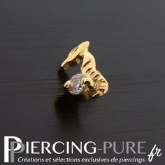 Microdermal Or hippocampe et Cristal griffée - Piercing-Pure Labret, The Selection, Piercings, Rings For Men, Pure Products, Tattoos, Beauty, Jewelry, Nose Earrings