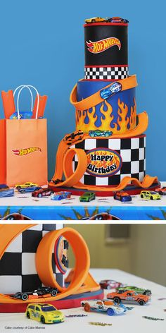 Minus the birthday.put a sweet smile on your little Hot Wheels fan with this epic party theme. Bolo Hot Wheels, Hot Wheels Cake, Hot Wheels Party, Hot Wheels Birthday, Race Car Birthday, Cars Birthday Parties, Hotwheels Birthday Cake, 5th Birthday, Birthday Celebration