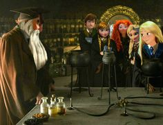 Hogwarts AU: the big six