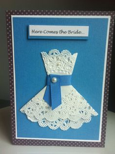 Bridal Shower Card, ^way to cut corners.  save the dates and formal invitations will be costly, but engagement and bridal shower invites i can try to make :)
