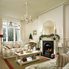 The sitting room in Marie & Alan McMillen's home in Belfast at Christmas time.