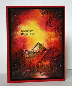 Sunset in the mountains by annascreations - Cards and Paper Crafts at Splitcoaststampers