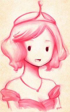 Princess Bubblegum pink art drawing. Beautiful // bubblegum^-^