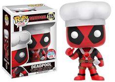 Marvel Funko POP! Deadpool Exclusive Vinyl Bobble Head #115 [Chef Hat]