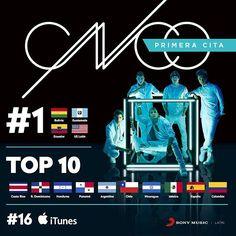Gracias #CNCOwners! #PrimeraCita #1 en Top Latin Albums! #CNCO @wisin…