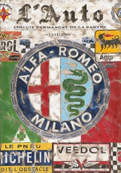 Classic Look Reprodution Steel Signal Romeo Milano - Tin Wall Indicators Retro Iron Portray Steel Poster Warning Plaque Artwork Decor for Storage Dwelling Backyard Retailer Bar Cafeacute Alfa 159, Alfa Alfa, Alfa Romeo Logo, Alfa Romeo Cars, Alfa Cars, Retro Cars, Vintage Cars, Vintage Signs, Vintage Posters