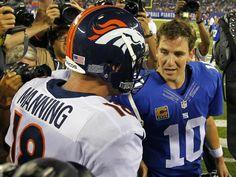 Denver Broncos vs. New York Giants  | NFL: Older brother Peyton bests Eli in third Manning Bowl | GMA News ...