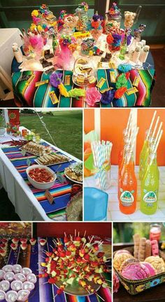 Mexican wedding table setups