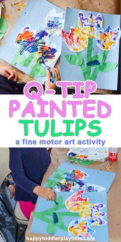 Q-Tip Painted Tulips – HAPPY TODDLER PLAYTIME
