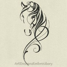 Horses Embroidery Embroiderydesigns Com - With Hundreds Of Thousands Of Designs Embroiderydesigns Com Is The Only Site You Need For The Horses Machine Embroidery Designs Youre Searching For Theres Something For Everyone On Your Horse Head, Horse Art, Horse Horse, Wood Burning Patterns, Wood Burning Art, Horse Tattoo Design, Tattoo Designs, Small Horse Tattoo, Art Designs