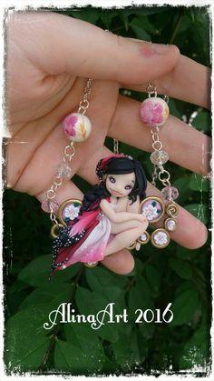 Guarda questo articolo nel mio negozio Etsy https://www.etsy.com/it/listing/398393819/necklace-crew-fairy-handmade-in-polimer