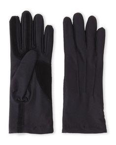 Black Stretch Classics Fleece-Lined Gloves