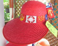 Sailing Hat Womans Walking Hat Nautical Theme by BuffaloDesigns, $15.00