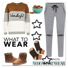 """""""What to Wear: Netflix Binge"""" by paculi ❤ liked on Polyvore featuring Who What Wear, River Island, Dot & Bo and WhatToWear"""