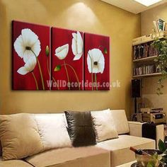 Abstract Hand-painted Oil Painting with Stretched Frame - Set of 3
