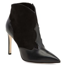 """Sam Edelman 'Bradley' Suede & Leather Pointy Toe Boot, 3 3/4"""" heel ($160) ❤ liked on Polyvore"""
