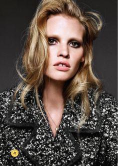 Lara Stone for Harper's Bazaar Germany.