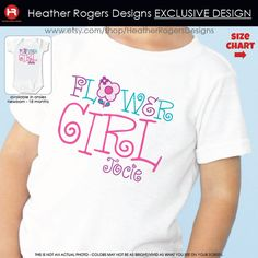 Flower Girl Shirt or Bodysuit - Personalized Wedding Shirt on Etsy, $16.50