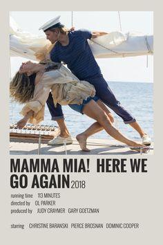 Alternative Minimalist Movie/Show Polaroid Poster - Mamma Mia 2 Iconic Movie Posters, Disney Movie Posters, Minimal Movie Posters, Minimal Poster, Movie Poster Art, Iconic Movies, Poster Wall, Movie Collage, Titanic Film